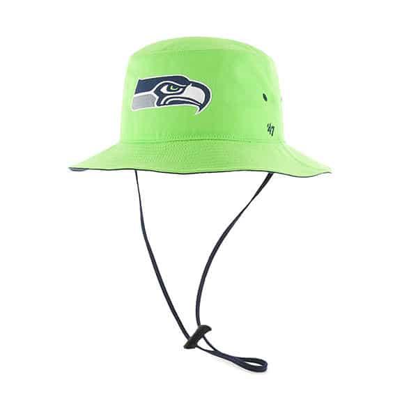 abf3815e7 Seattle Seahawks 47 Brand Lime Kirby Bucket Hat - Detroit Game Gear