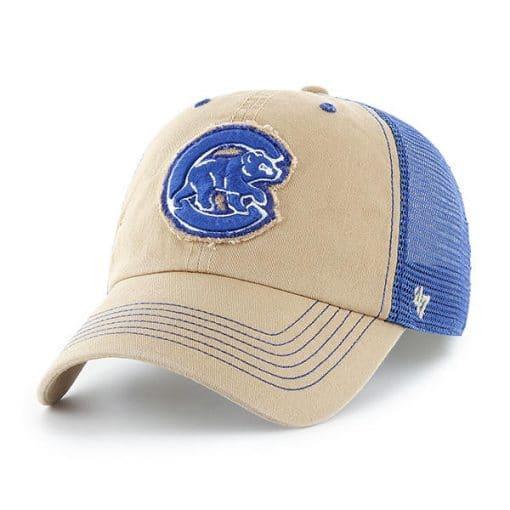 Chicago Cubs 47 Brand Khaki Closer Mesh Stretch Fit Hat