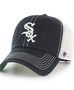 Chicago White Sox 47 Brand Trawler Black White Clean Up Adjustable Hat