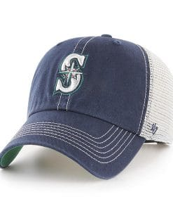 Seattle Mariners 47 Brand Navy Trawler Clean Up Adjustable Hat