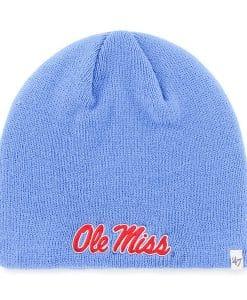 Ole Miss 47 Brand Blue Raz Beanie Knit Hat