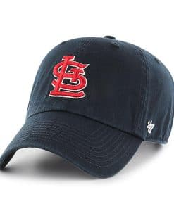 St. Louis Cardinals 47 Brand Navy Red Clean Up Adjustable Hat
