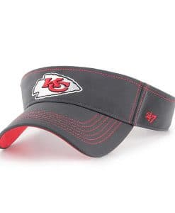 Kansas City Chiefs 47 Brand Charcoal Defiance Visor Adjustable Hat