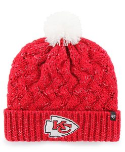 Kansas City Chiefs INFANT / TODDLER 47 Brand Red Fiona Cuff Knit Hat