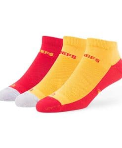 Kansas City Chiefs LARGE 47 Brand Team Color Low Cut 3 Pack Socks