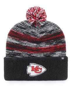 Kansas City Chiefs 47 Brand Black Sideboard Cuff Knit Hat