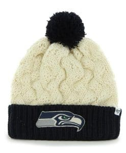 Seattle Seahawks 47 Brand Women's Matterhorn Natural Cuff Knit Hat