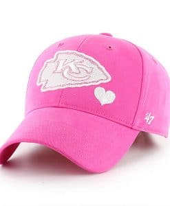 Kansas City Chiefs KIDS 47 Brand Bright Pink Girls Adjustable Hat cf5fb354deca