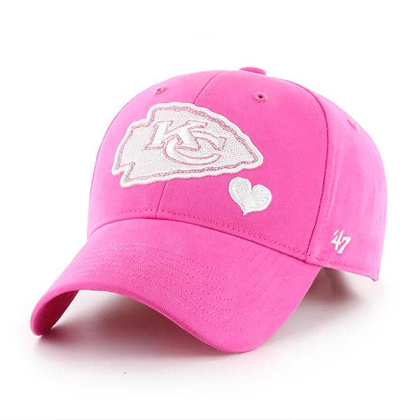 the best attitude da341 6c22e Kansas City Chiefs KIDS 47 Brand Bright Pink Girls Adjustable Hat