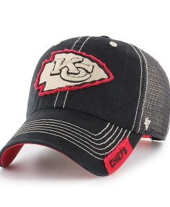 Kansas City Chiefs 47 Brand Black Turner Mesh Clean Up Adjustable Hat