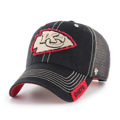 Kansas City Chiefs 47 Brand Black Turner Mesh Clean Up Adjustable Hat
