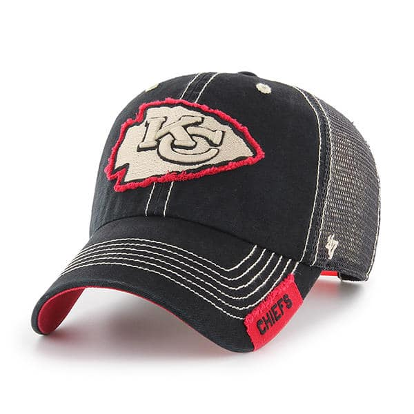 31f737c9518 Kansas City Chiefs 47 Brand Black Turner Mesh Clean Up Adjustable Hat -  Detroit Game Gear