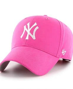 New York Yankees INFANT 47 Brand Bright Pink Girls Adjustable Hat