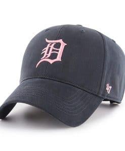 Detroit Tigers Women's 47 Brand Navy Pink MVP Carol Adjustable Hat