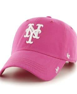 New York Mets Women's 47 Brand Pink Miata Adjustable Hat