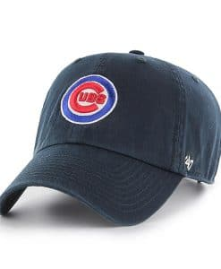 Chicago Cubs 47 Brand Logo Navy Clean Up Adjustable Hat