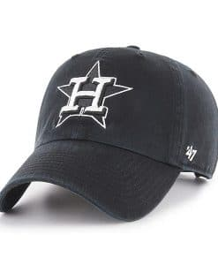Houston Astros 47 Brand Black Clean Up Adjustable Hat