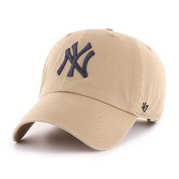 quality design 6c0fd 263ff New York Yankees 47 Brand Khaki Clean Up Adjustable Hat - Detroit Game Gear