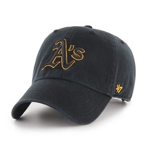 Oakland Athletics 47 Brand Black Clean Up Adjustable Hat