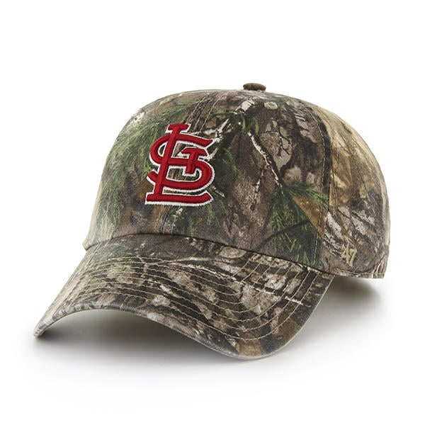 b302b7fe8243 St. Louis Cardinals 47 Brand Camo Realtree Adjustable Hat - Detroit Game  Gear