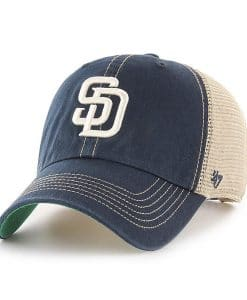 San Diego Padres 47 Brand Trawler Navy Clean Up Adjustable Hat