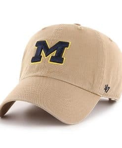 Michigan Wolverines 47 Brand Khaki Clean Up Adjustable Hat