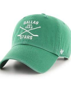 Dallas Stars 47 Brand Black Cross Sticks Adjustable Hat