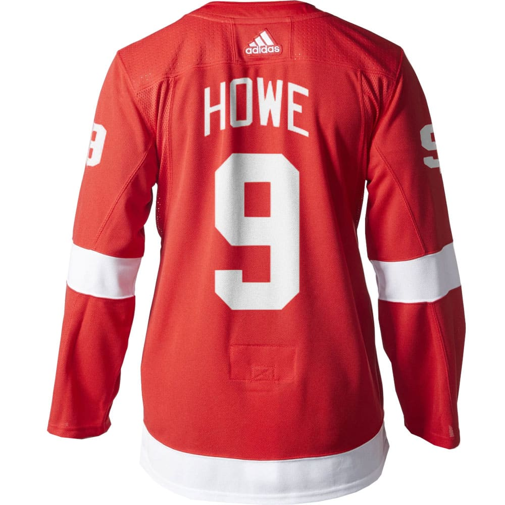 size 40 cb0ee e4def Gordie Howe Detroit Red Wings Men's Adidas AUTHENTIC Home Jersey