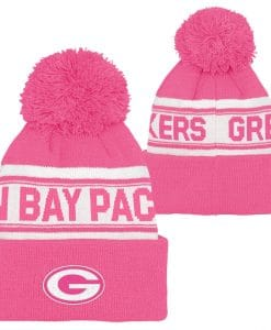 Green Bay Packers Girls Pink Cuff Knit Hat