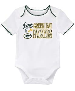 Green Bay Packers Love White Onesie Creeper
