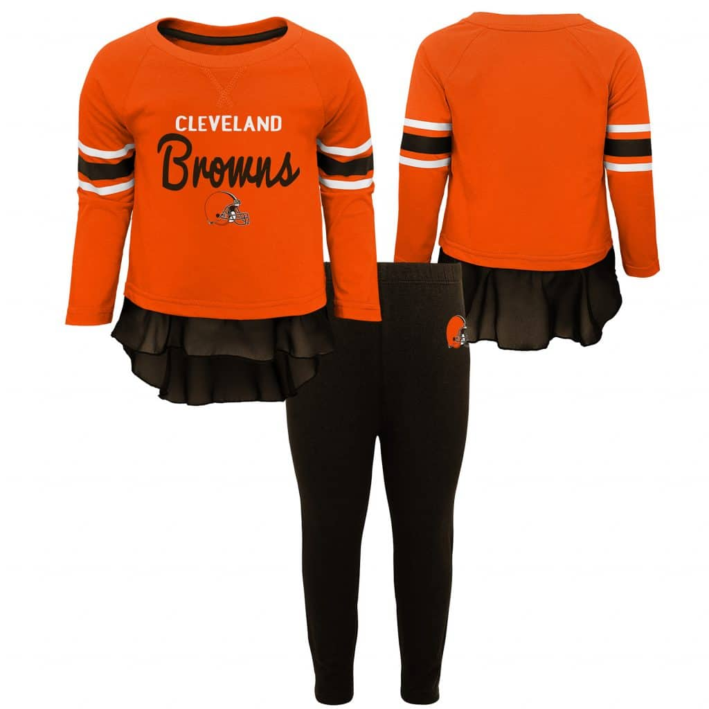 4123b3a18 Cleveland Browns Baby Girls Pants & Top 2 Piece Set - Detroit Game Gear