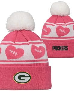 Green Bay Packers TODDLER Baby Pink Cuff Knit Hat