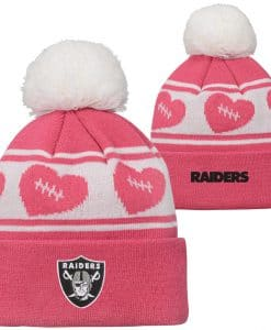 Oakland Raiders TODDLER Baby Pink Cuff Knit Hat