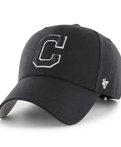 Cleveland Indians 47 Brand Black MVP Adjustable Hat