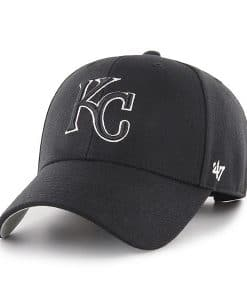Kansas City Royals 47 Brand Black MVP Adjustable Hat