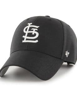 St. Louis Cardinals 47 Brand Black MVP Adjustable Hat