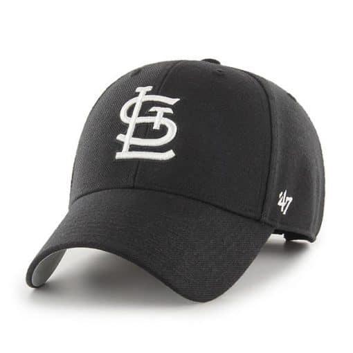 St. Louis Cardinals 47 Brand Black MVP Adjustable Hat