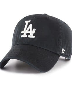 Los Angeles Dodgers 47 Brand White Logo Black Clean Up Adjustable Hat