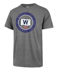 Chicago Cubs Men's 47 Brand Gray Wrigley Field T-Shirt Tee