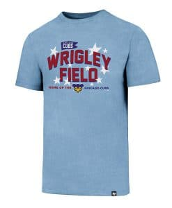 Chicago Cubs Men's 47 Brand Wrigley Field Carolina Blue T-Shirt Tee