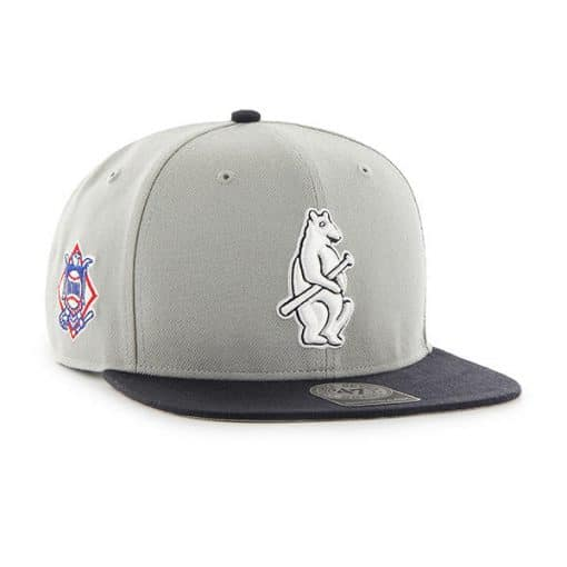 Chicago Cubs 47 Brand Gray Two Tone Cooperstown Snapback Hat