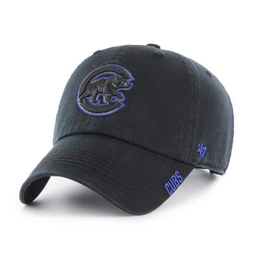 Chicago Cubs 47 Brand Black Huddle Clean Up Adjustable Hat