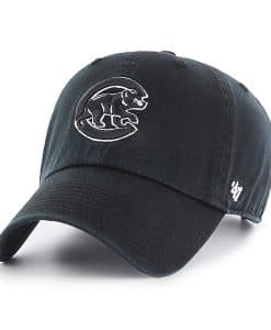 Chicago Cubs 47 Brand Black Classic Clean Up Adjustable Hat