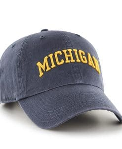 Michigan Wolverines 47 Brand Vintage Navy Script Clean Up Adjustable Hat