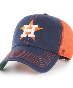 Houston Astros 47 Brand Navy Orange Trawler Clean Up Adjustable Hat