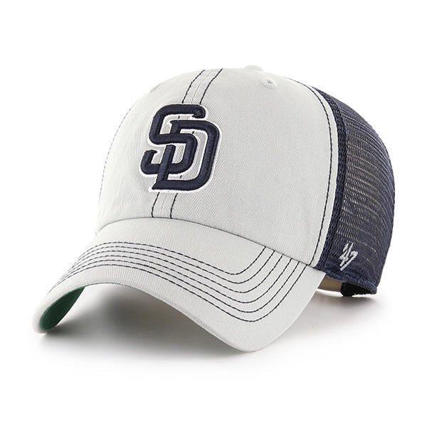 d2740db93 San Diego Padres 47 Brand Gray Trawler Clean Up Adjustable Hat