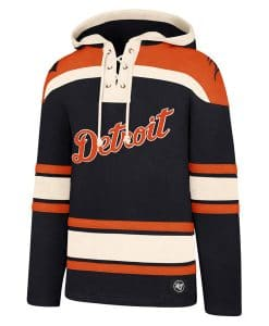 Detroit Tigers Men's 47 Brand Navy Pullover Jersey Hoodie