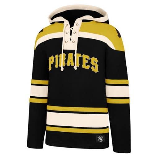Pittsburgh Pirates Men's 47 Brand Black Pullover Jersey Hoodie
