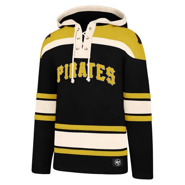 brand new 9c827 13567 Pittsburgh Pirates Men's 47 Brand Black Pullover Jersey Hoodie