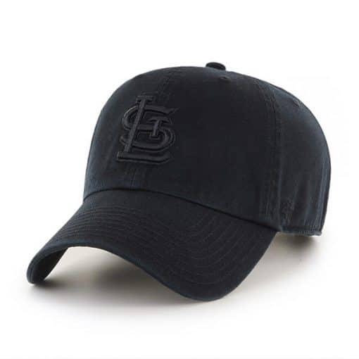 St. Louis Cardinals 47 Brand Black Logo Clean Up Adjustable Hat